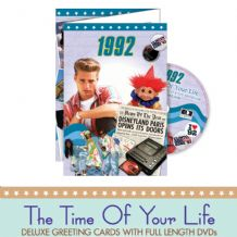 1990 to 1995  The time of your life DVD Greeting Card.
